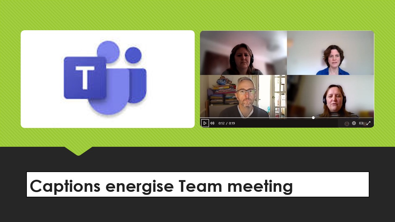 Screen shot of team meeting