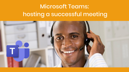 Microsoft Teams hosting meetings